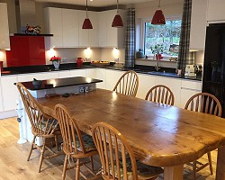 Kitchen Table Finished AW Cameron Joinery, Aberdeen, Stonehaven, Montrose