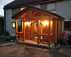 Porch AW Cameron Joinery, Aberdeen, Stonehaven, Montrose